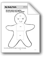 My Body Parts (Gingerbread Boy)