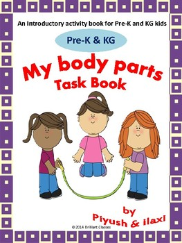 My Body Parts - Adapted Task Card Book for Pre-K and KG