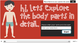 My Body Parts Interactive with Audio Narration and Quiz