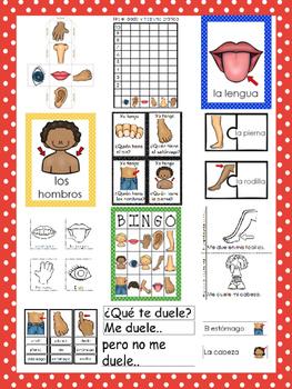 My Body Unit In Spanish