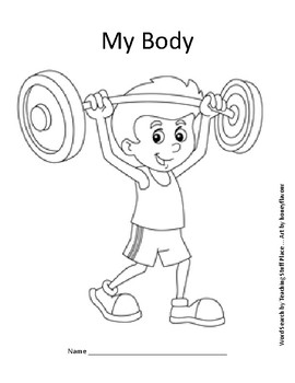 My Body Word Search Puzzle and Coloring, Grades 1-2 Science Vocabulary