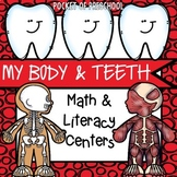 My Body and Teeth Math and Literacy Centers for Preschool, Pre-K, and Kinder