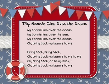 My Bonnie Lies Over the Ocean - Nautical Folk Song with 4 NPP Ostinatos