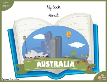 My Book About Australia with Cursive Copywork