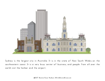 My Book About Australia with Cursive Copywork