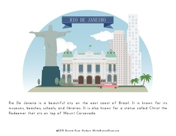 My Book About Brazil with Print Copywork