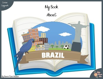 My Book About Brazil with Cursive Copywork