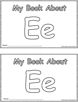 My Book About Ee     Little Emergent Reader