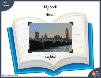 My Book About England with Print Copywork
