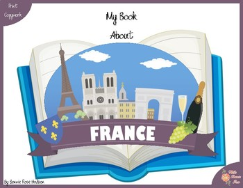My Book About France with Print Copywork