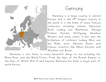 My Book About Germany with Cursive Copywork