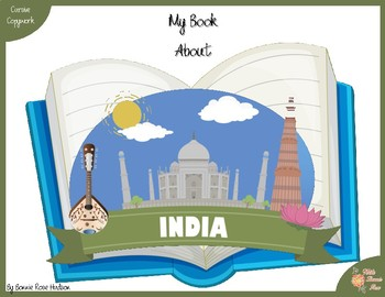 My Book About India with Cursive Copywork