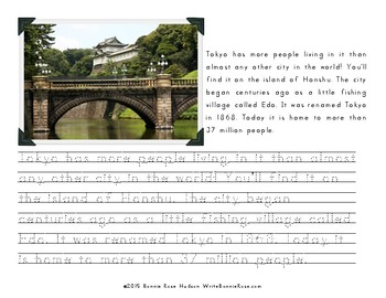 My Book About Japan with Print Copywork