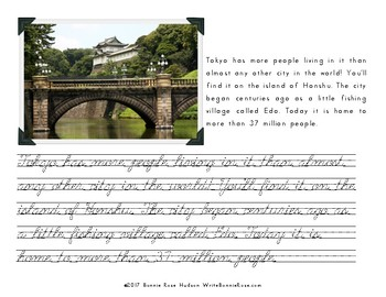 My Book About Japan with Cursive Copywork