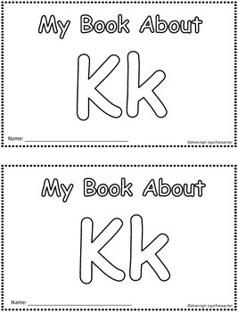 My Book About Kk    Little Emergent Reader