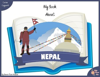 My Book About Nepal with Cursive Copywork
