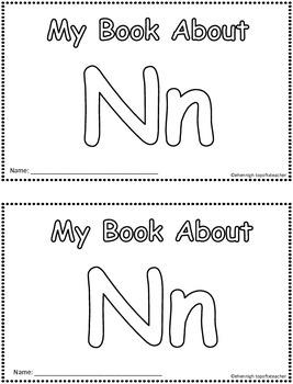 My Book About Nn    Little Emergent Reader