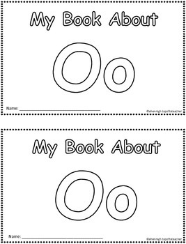 My Book About Oo    Little Emergent Reader