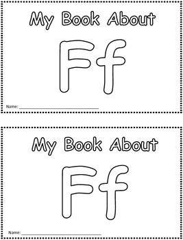 My Book About Ff     Little Emergent Reader