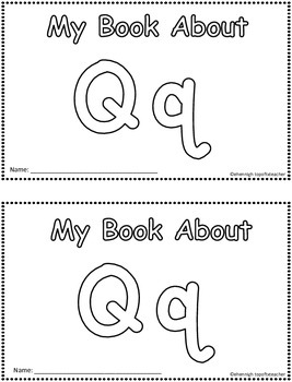 My Book About Qq    Little Emergent Reader