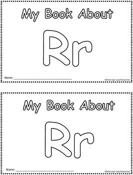 My Book About Rr    Little Emergent Reader