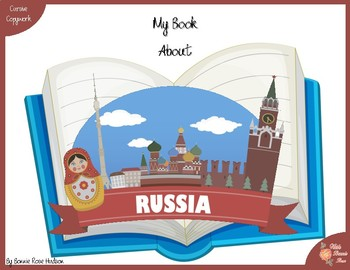 My Book About Russia with Cursive Copywork