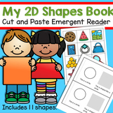 Shapes 2D Cut and Paste Emergent Reader - Match 11 Real Wo