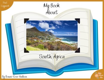 My Book About South Africa with Print Copywork