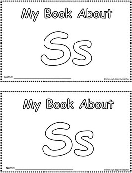 My Book About Ss   Little Emergent Reader