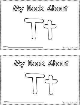 My Book About Tt   Little Emergent Reader