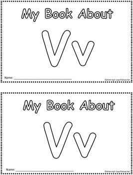 My Book About Vv  Little Emergent Reader