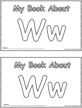 My Book About Vv  Little Emergent Reader