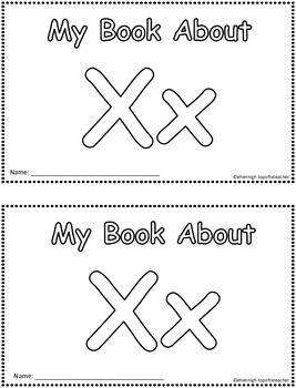 My Book About Xx  Little Emergent Reader