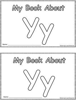 My Book About Yy  Little Emergent Reader
