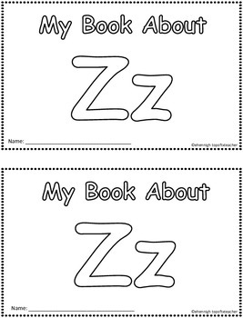 My Book About Zz  Little Emergent Reader