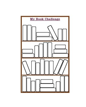 My Book Challenge Bookshelves for Recording Reading Logs