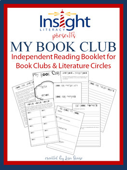 My Book Club Thinking Booklet for Book Clubs and Lit Circles