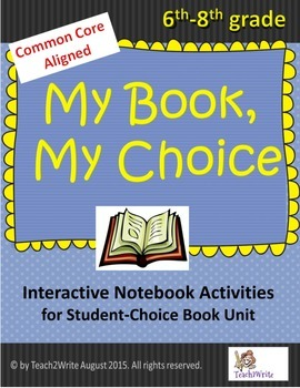 My Book, My Choice: Interactive Notebook Actitivities for