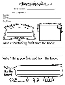 picture regarding Book Report Printable called My Ebook (Non-fiction) Investigate Posting - E book write-up sheet (Template / Sort)