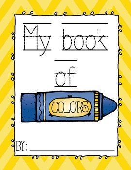 My Book Of Colors {full color and black and white}