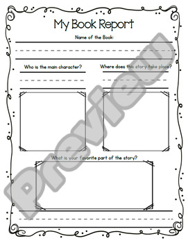Primary Book Reports