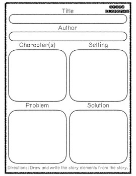 My Book Report - Story Elements, Sequencing & Review