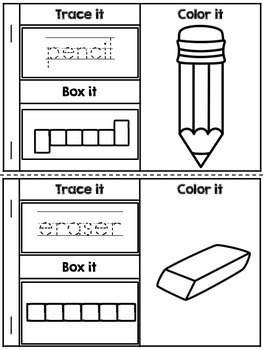 Back to School Activity - Book of Words (FREE)
