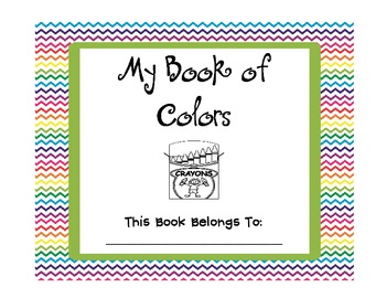My Book of Colors by Teaching\'s a Hoot by Nicole Johnson | TpT