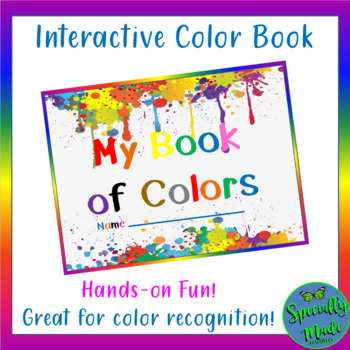 My Book of Colors reader red blue green yellow hands-on