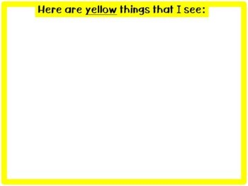 My Book of Colors emergent reader red blue green yellow hands-on interactive