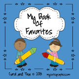 Back To School Writing Lesson: Students'  Book of Favorite