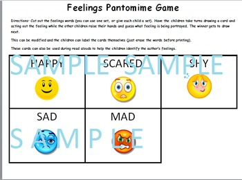 My Book of Feelings Bundle (booklet, game, songs and word sorts)