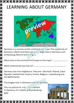 My Book of Germany  - The Study of a Country