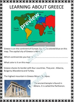My Book of Greece  - The Study of a Country